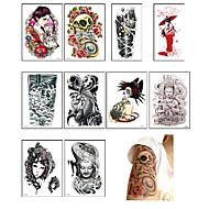 10 Tatoeagestickers Overige Non ToxicBaby Kind Dames Heren Tiener Tijdelijke tatoeage Tijdelijke tatoeages