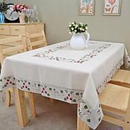 Dikdörtgen Çiçek Masa Örtüleri , Linen MalzemeOtel Yemek Masası Düğün Dekorasyon Düğün Ziyafet Yemeği Noel Dekor Favor Tablo Dceoration