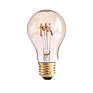 4W B22 E26/E27 フィラメントタイプLED電球 G60 1 COB 400 lm 温白色 明るさ調整 交流220から240 AC 110-130 V 1個