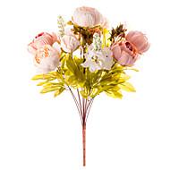 1 haara Silkki Pioonit Pöytäkukka Keinotekoinen Flowers 50 x 30 x 30(19.69'' x 11.81'' x 11.81'')