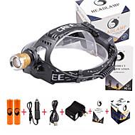 Hodelykter LED 3000 Lumens 4.0 Modus Cree XP-E R2 18650 Justerbart Fokus Forfalskning Detektor KompaktstørrelseCamping/Vandring/Grotte