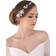 Vrouwen Parel Kristallen Licht Metaal Helm-Bruiloft Speciale gelegenheden Buiten Tiara's Hoofdbanden Bloemen Hoofdketting 1 Stuk