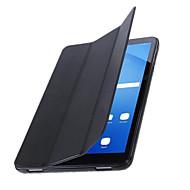 Pour Avec Support Veille/Déverrouillage Automatique Clapet Origami Coque Coque Intégrale Coque Couleur Pleine Dur Cuir PU pour SamsungTab