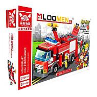 Véhicule de Pompier Jouets Jouets de voiture 1:25 Plastique Rouge Maquette & Jeu de Construction