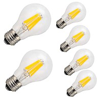 6 pcs-12W E26/E27 LED Filament Bulbs A60(A19) 12 COB 1000 lm Warm White Cool White Decorative AC 220-240 V