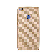 For Ultratyndt Etui Bagcover Etui Helfarve Blødt Kulstoffiber for HuaweiHuawei P8 Lite (2017) Huawei Honor 8 Huawei Honor 5C Huawei Mate