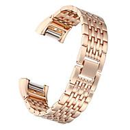 voor Fitbit lading 2 roestvrij stalen armband slimme horloge band band