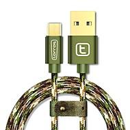 USB 2.0 Micro USB 2.0 編み ケーブル 用途 Samsung Huawei Sony Nokia HTC Motorola LG Lenovo Xiaomi 300 cm ナイロン アルミニウム TPE