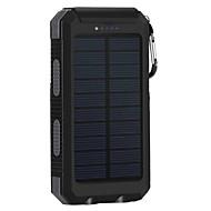8000mAhbanque de puissance de batterie externe Charge Solaire Sorties Multiples Lampe Torche 8000 2000Charge Solaire Sorties Multiples
