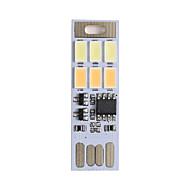 1pcs de usb 3w 6x5730 tactile commutateur double éclairage nocturne couleur llight dimmable (DC5V)