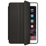Voor met standaard Automatisch aan/uit Flip Origami hoesje Volledige behuizing hoesje Effen kleur Hard PU-leer voor AppleiPad (2017) iPad
