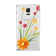 Varten Läpinäkyvä Kuvio Etui Takakuori Etui Kukka Pehmeä TPU varten Samsung Note 5 Note 4 Note 3 Note 2