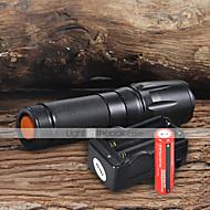 Flashlight Kits LED 2200 Lumens 5 Mode Cree XM-L T6 18650 Adjustable Focus Camping/Hiking/Caving Everyday Use Working Aluminum alloy