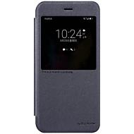 のために ウィンドウ付き オートオン/オフ フリップ つや消し ケース フルボディー ケース ソリッドカラー ハード PUレザー のために Huawei Huawei Honor V9