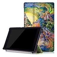 imprimir el caso de cuero de la PU de la cubierta elegante para el Amazonas nuevo Kindle Fire HD hd8 8 con protector de pantalla
