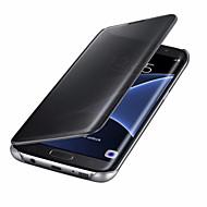 Voor Automatisch aan/uit Beplating Spiegel Flip hoesje Volledige behuizing hoesje Effen kleur Hard PC voor SamsungA3 (2017) A5 (2017) A7