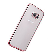 For Samsung S8 Plus S8 Plating Ultra-thin Transparent Case Back Cover Case Solid Color Soft TPU S7 Edge S7 S6 Edge Plus S6 Edge S6
