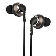 Per il telefono cellulare del telefono cellulare in-orecchio metallico metallico di 3.5mm controllo del volume di rumore-annullamento