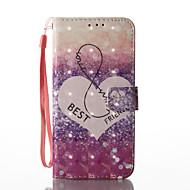 Varten Lomapkko Korttikotelo Tuella Flip Kuvio Etui Kokonaan peittävä Etui Sydän Kova Tekonahka varten SamsungS8 Plus S8 S7 edge S7 S6