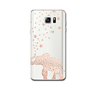 For Ultra Thin Pattern Case Back Cover Case Elephant Soft TPU for Samsung Note 5 Note 4 Note 3