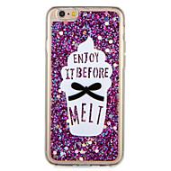 Apple iphone7 7 plus suojus kuvio takakansi tapauksessa glitter kiiltoa sana / lause ruokaa pehmeä TPU 6s plus 6 plus 6s 6