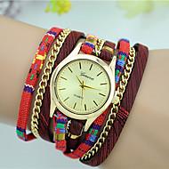 Damskie Modny Zegarek na bransoletce Kwarcowy Kolorowy Tkanina Pasmo Na co dzień Czarny Czerwony Beżowy Granatowy Rose