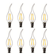 ® Shenmeile 3.5w E14 LED Candle Lights CA35 4 COB 400 lm Warm White Decorative AC 220-240 V 8 pcs