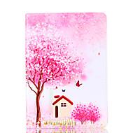 Per Apple ipad 4 3 2 custodia di copertina caso di fiore albero stent pu materiale guaina di protezione piatta