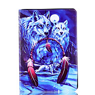 For Apple iPad Mini 4 3 2 1 Case Cover Wolf Pattern Card Stent PU Material Flat Protection Shell