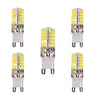 3W G9 G4 E12 E17 Żarówki LED bi-pin T 40 SMD 5730 200-300 lm Ciepła biel Zimna biel Dekoracyjna V 5 sztuk