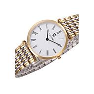 Tevise Herren Damen Paar Kleideruhr Modeuhr Armbanduhr Quartz Wasserdicht Edelstahl Band Cool Luxuriös Schwarz Braun Gold / Weiß