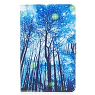 Για samsung γαλαξία ετικέτα e 9,6 περίπτωση κάλυψης μπλε ξύλο μοτίβο ζωγραφισμένο κάρτα stent πορτοφόλι pu δέρμα υλικό επίπεδη