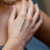 Pentru femei Brățări cu Lanț & Legături Ring Bracelets Bijuterii Bohemia Stil Confecționat Manual Turcoaz Aliaj Circle ShapeAuriu