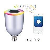 7W E26/E27 Okos LED izzók 12 SMD 5050 600 lm Hideg fehér RGB Állítható Bluetooth AC 100-240 V 1 db.
