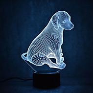 Weihnachten Hund Schildkröten berühren Dimmen 3d führte Nachtlicht 7colorful Dekoration Atmosphäre Lampe Neuheit Beleuchtung