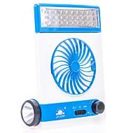 Noul multifuncțional condus de lampă de birou mini ventilator usb solar reîncărcabilă ventilator în aer liber camping lampă