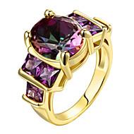 Vallomás gyűrűk Gyűrű Kocka cirkónia Divat Személyre szabott Euramerican luxus ékszerEzüst Cirkonium Arannyal bevont Rózsa arany