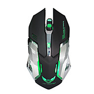 Oplaadbare draadloze gaming muis 7-kleuren backlight adem comfort gamer muizen voor computer desktop laptop notebook pc