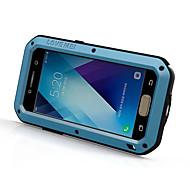 Für Stoßresistent Wasserdicht Hülle Handyhülle für das ganze Handy Hülle Einheitliche Farbe Hart Metall für Samsung A3 (2017) A5 (2017)