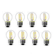 ® Shenmeile 2W E14 E27 LED Filament Bulbs G45 2 COB 200 lm Warm White Decorative AC220 AC230 AC240 V 8 pcs