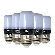 3W E14 E26/E27 LEDコーン型電球 20 SMD 5736 200-300 lm 温白色 クールホワイト 交流220から240 V 5個