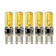 5W E14 G9 G4 LED-lamper med G-sokkel T 4 COB 450 lm Varm hvid Hvid Justérbar lysstyrke Vekselstrøm 220-240 V 5 stk.