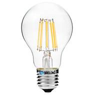 BRELONG Dimming A60 E27 8W 8LED 600LM Antique Filament Lamp Warm White / White AC22OV Transparent Bulb Light 1pcs