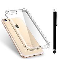 Na iPhone X iPhone 8 iPhone 8 Plus Etui Pokrowce Odporne na wstrząsy Przezroczyste Etui na tył Kılıf Solid Color Miękkie Poliuretan