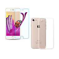 ASLING Screen Protector for Apple iPhone 7 Plus Tempered Glass Front Film HD 9H 2.5D Ultra Thin 0.26mm with Transparent TPU Case for iPhone7 6 6s Plus