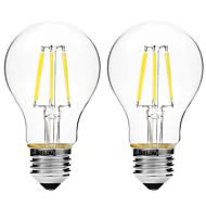 4W LED필라멘트 전구 A60(A19) 6 COB 450 lm 따뜻한 화이트 화이트 밝기조절가능 V 2개