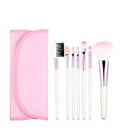 7pcs Pink Makeup Brush Set Blush Brush Eyeshadow Brush Eyeliner Brush Eyelash Brush dyeing Brush Powder Brush Sponge Applicator Synthetic Hair