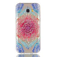Til samsung galaxy a5 (2017) a3 (2017) telefon taske tpu materiale blonder blomster mønster relief telefon tilfælde
