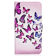 Voor samsung galaxy s8 s8 plus hoesje paars vlinderpatroon pu materiaal kaart sten twaalf telefoon hoesje s7 s6 s5 s7edge s6edge