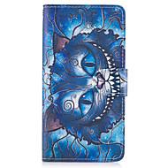 Taske til Sony Xperia x xa cover dækker det blå kat mønster pu læder tasker til Sony Xperia x Compact XZ Premium Z5 Premium m2 M4 Aqua Xa1